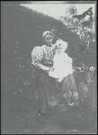 Helen Scott with daughter Marion Scott in garden