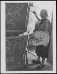 Frances Hodgkins Painting at Corfe Castle